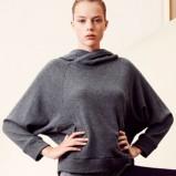 Piękna popielata bluza Oysho z kapturem luźna jesień- zima 2012/2013