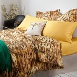 Piękna wzorzysta pościel w panterkę -modna sypialnia 2013