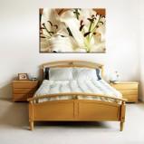 Piękne Lilie obraz 3D salon/sypialnia Widi
