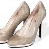 piękne szpilki Reserved w kolorze złotym - najmodniejsze złote buty