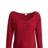 Piękny bordowy sweter ESPRIT z dekoltem w łódkę  moda jesienno-zimowa 2012/ 2013