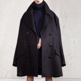 Piękny czarny płaszcz H&M duży kolekcja jesienno-zimowa