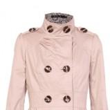 Piękny ecru płaszcz Mohito z kieszeniami  moda na jesień i zimę 2012/13