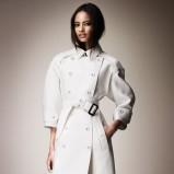 piękny płaszcz Burberry w kolorze białym - wiosna 2013