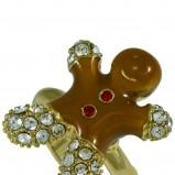 piernikowy pierścionek SIX w kolorze brązowym - świąteczne akcesoria