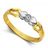 pierścionek Briju z sercem z brylantem