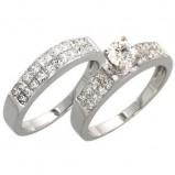 pierścionek dwuczęściowy
