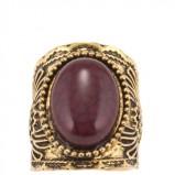 pierścionek Parfois z brązowym oczkiem - dodatki w stylu barokowym