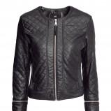 pikowana kurtka H&M w kolorze czarnym - jesień i zima 2013/14