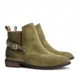 płaskie botki H&M w kolorze khaki - modne buty dla kobiet