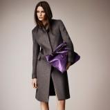 płaszcz Burberry w kolorze popielatym - moda 2014