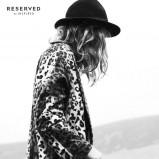 płaszcz Reserved w panterkę - jesień 2013