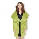 płaszczyk Aryton w kolorze zielonym - jesienna moda