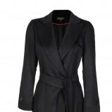 płaszczyk Caterina w kolorze czarnym z paskiem - kolekcja - jesień - zima 2012/2013