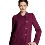 płaszczyk w kolorze bordowym H&M z kołnierzem - jesień-zima 2012/2013