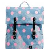 plecak Asos w groszki w kolorze niebieskim - mode dodatki