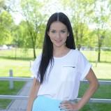 plisowana spódnica w kolorze błękitnym - Paulina Sykut - Jeżyna