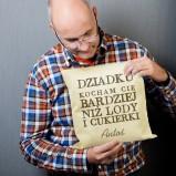 Poduszka od wnuka z personalizowanym podpisem, crazyshop.pl, 49.99 zł