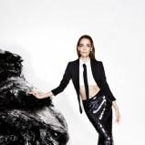 połyskliwa spódnica Simple w kolorze czarnym - moda na zimę 2013/14