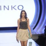 połyskliwa spódniczka Pinko w kolorze złotym - lato 2013
