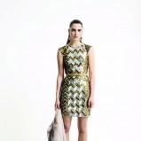 połyskliwa sukienka Dorothy Perkins w kolorze zielonym - zima 2013/14