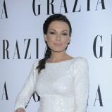 połyskliwa sukienka w kolorze białym - Katarzyna Glinka