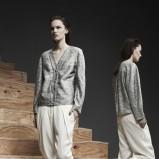 połyskliwa sweterek Alexander Wang w kolorze szarym - trendy 2013/14