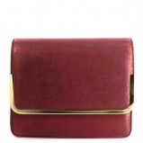 połyskliwa torebka Menbur w kolorze bordowym - modne torebki na imprezę