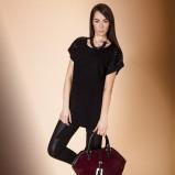połyskliwe legginsy Monnari w kolorze czarnym - kolekcja świąteczna 2012