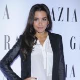 połyskliwe spodnie w kolorze czarnym - Sara Faraj