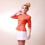 pomarańczowa bluzka Anna Popławska - lato 2012