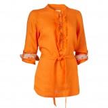 pomarańczowa bluzka Jackpot ze sznurkiem z rękawem 3/4 - wiosna/lato 2012