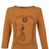 pomarańczowa bluzka Top Secret z aplikacją - sezon jesienno-zimowy