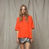 pomarańczowa bluzka ZARA - moda 2011/2012