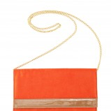 pomarańczowa kopertówka H&M - trendy wiosna-lato