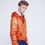 pomarańczowa kurtka H&M z kapturem - wiosna-lato 2012