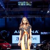 pomarańczowa sukienka Aldona w pasy - wiosna-lato 2012