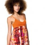 pomarańczowa sukienka Benetton na ramiączkach - kolekcja na lato
