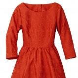 pomarańczowa sukienka H&M rozkloszowana - wiosna/lato 2012