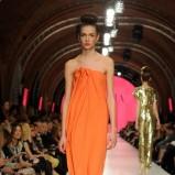 pomarańczowa sukienka La Mania długa - lato 2011