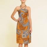 pomarańczowa sukienka Mango we wzory - jesień-zima 2010/2011