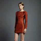 pomarańczowa sukienka Valentino - moda na wiosnę