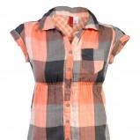 pomarańczowa tunika H&M w kratkę - kolekcja jesienno-zimowa