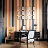 Pomarańczowe niebieskie paski tapeta