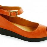 pomarańczowe sandałki Ryłko