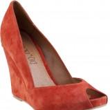 pomarańczowe sandały CCC na koturnie - wiosna 2013