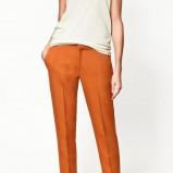 pomarańczowe spodnie ZARA - jesień/zima 2011/2012