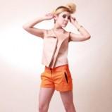 pomarańczowe szorty Anna Popławska - moda 2012