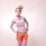 pomarańczowe szorty Anna Popławska - z kolekcji wiosna-lato 2012