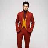 pomarańczowy garnitur H&M - jesień/zima 2012/2013